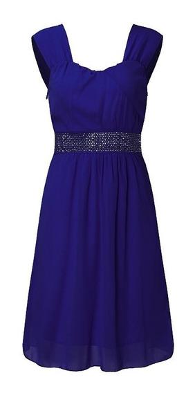 Vestido Corto Rita L Xlfiesta Casamiento Negro Azul Blanco