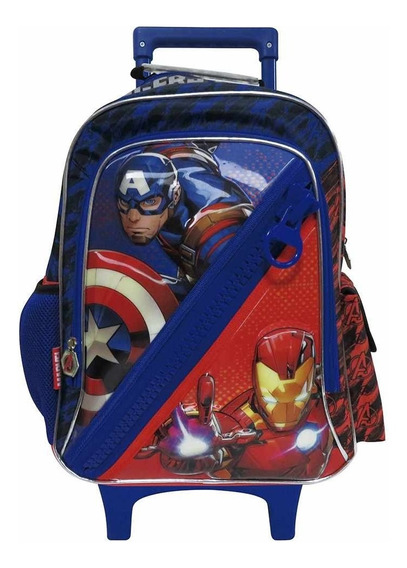 Mochila C/carro Avengers 16 Pulg C/bolsillo Horizontal C/env