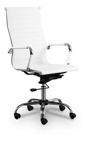 Cadeira Escritório Consultório Presidente Branca Lms-by-9623