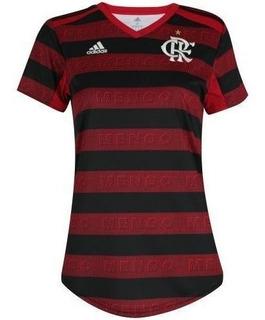 Camisa Flamengo Feminina Home 19-2020 Pronta Entrega