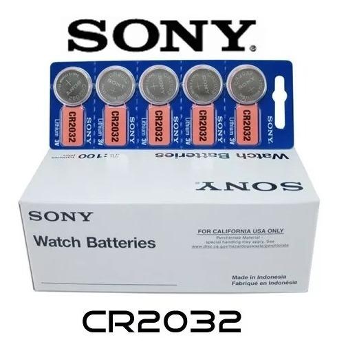 Bateria Lithium Cr2032 3v Sony Cartela C 5 Unidades Plamãe 3