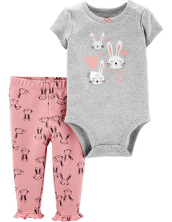 Carters Set 2 Piezas Body Pantalon Bebe Nena 24 Meses
