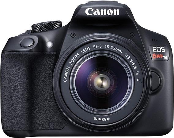 Câmera Canon Rebel T6 C/ Lente 18x55mm + Case + Sd 64gb