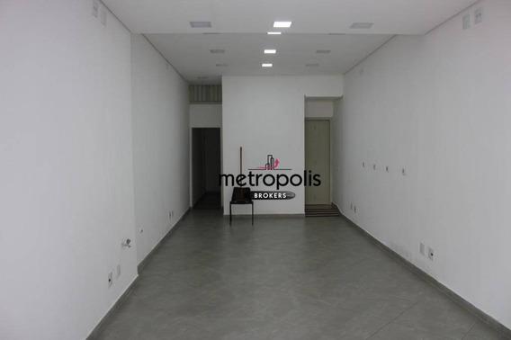 Salão Para Alugar, 45 M² Por R$ 2.200,00/mês - Nova Gerty - São Caetano Do Sul/sp - Sl0049