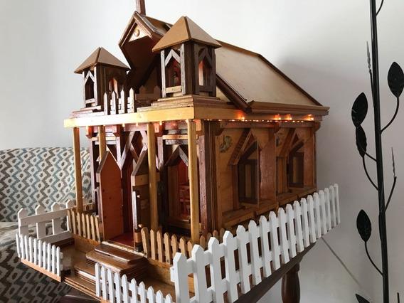 Igreja Artesanato Em Escala Nossa Senhora De Fátima Com Luz