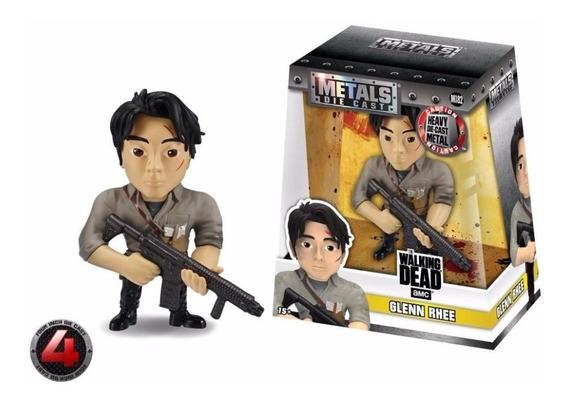 Boneco De Metal Die Cast - The Walking Dead Glenn Rhee M182