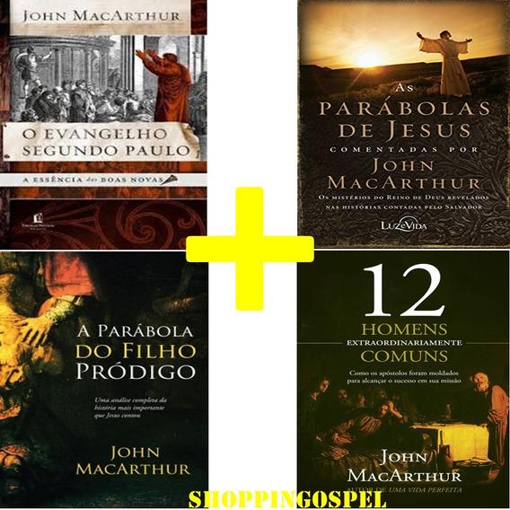 Kit 4 Livros John Macarthur O Evangelho Segundo Paulo E Mais