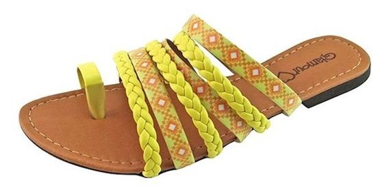 Rasteirinha Tribal Trançada - Amarela