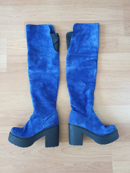 Botas Bucaneras Azules N° 37