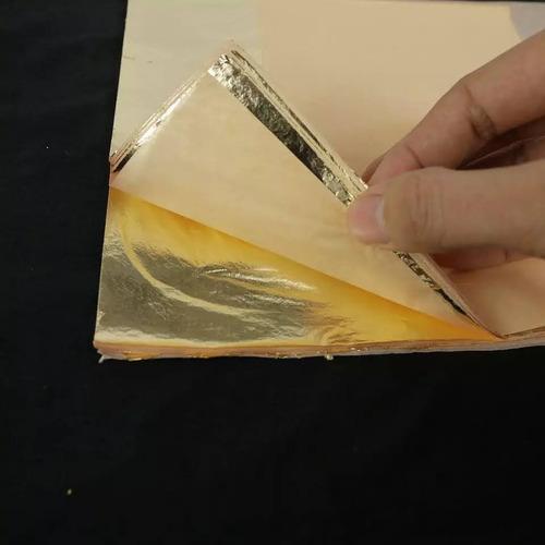 100 Folhas De Ouro 16x16 Importada Alta Qualidade F R M