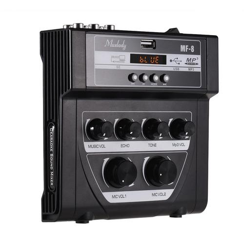 Imagen 1 de 9 de Muslady Mf-8 Mini Karaoke Sonido Mezclador De Audio
