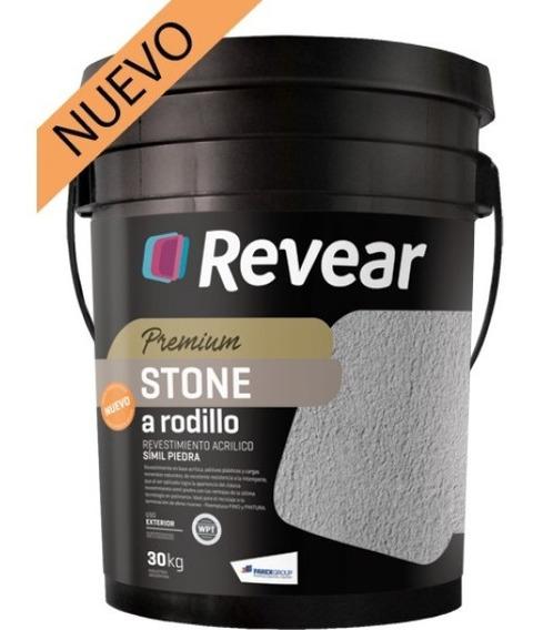 Revear Stone A Rodillo Revestimiento Acrilico X 30kg