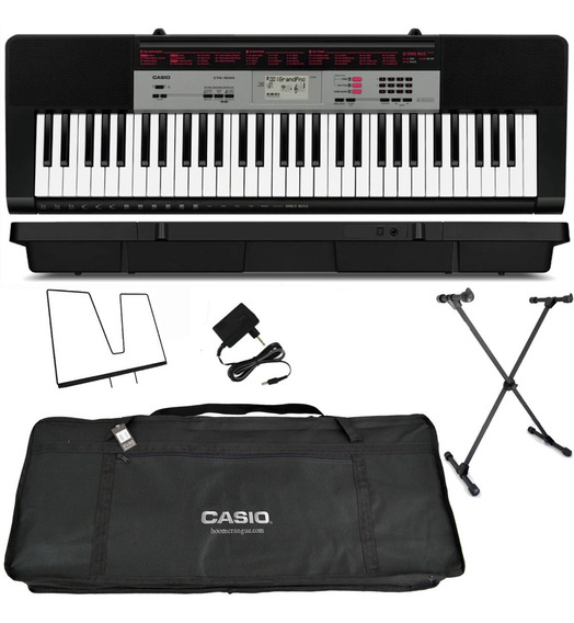 Kit Teclado Musical Adulto 61 Teclas Ctk-1500 Casio