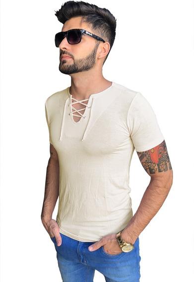 Camisa Masculina Bata Manga Curta Modelo Top Várias Cores