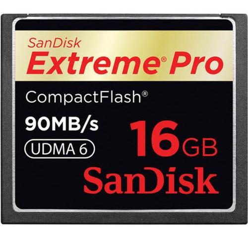 Cartão De Memória Sandisk Cf - Extreme Pro - 16gb - 90 Mb/s
