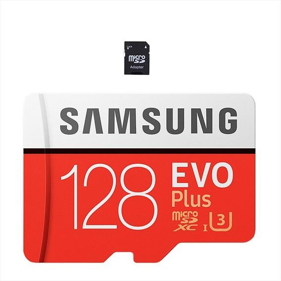Cartão De Memória 128 Gb Micro Sd Samsung + Adaptador Sd