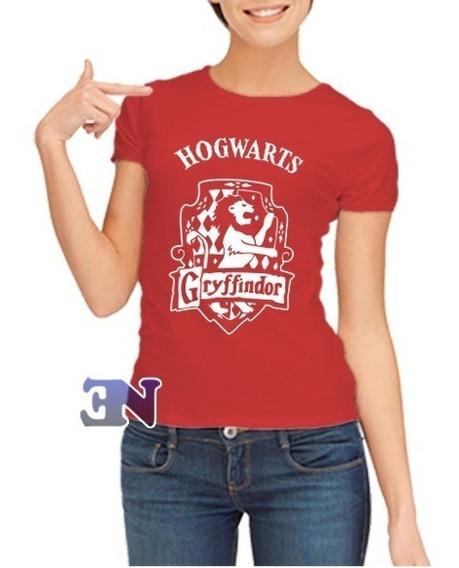 Camiseta Grifinória Hogwarts Harry Potter - Feminina