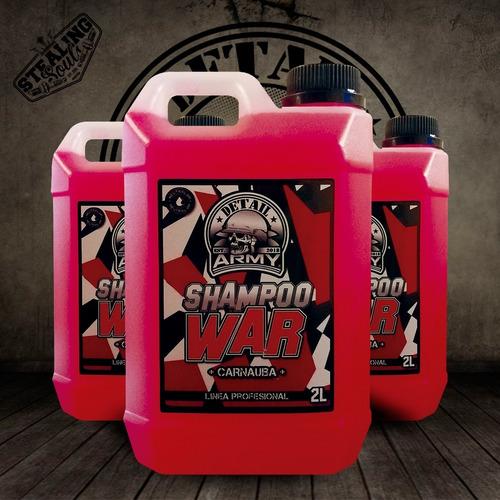 Detail Army® - Shampoo War | Con Cera Carnauba | 2 Litros