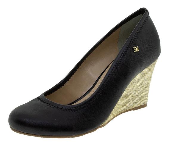 Sapato Feminino Anabela Cravo & Canela - 158001 Preto