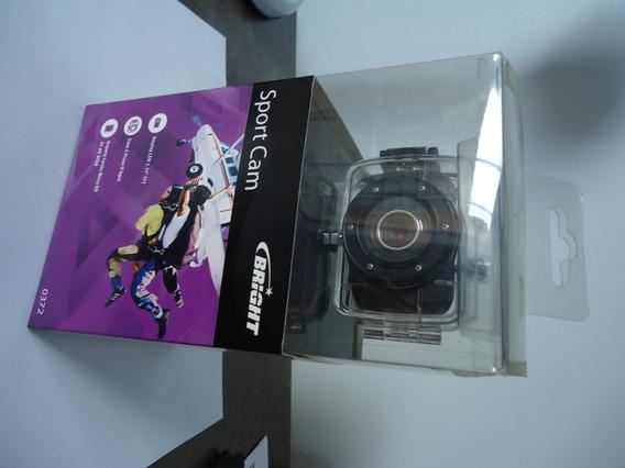 Câmera De Ação Sport Cam Bright 0372 Com Acessórios Diversos