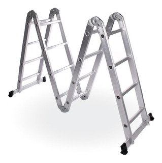 Escalera Multiusos Aluminio Multiposición 12 Pasos 3.60 Mt.