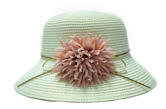Sombrero De Sol Niña Ala Mediana Verano Flor