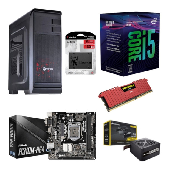 Pc Hunter Intel I5 8400 Mb H310m Hg4 Vg 8gb Vs400 Ssd 120gb
