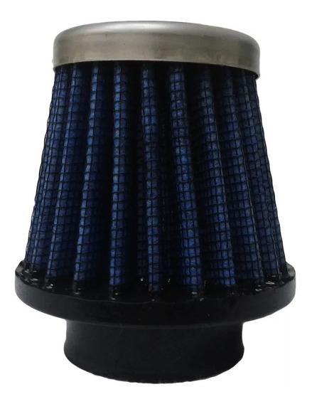 Filtro Ar Espotivo Para Moto Encaixe 43mm Telado Azul