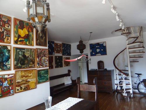 Cobertura Com 5 Dormitórios À Venda, 315 M² Por R$ 4.200.000,00 - Lagoa - Rio De Janeiro/rj - Co0076