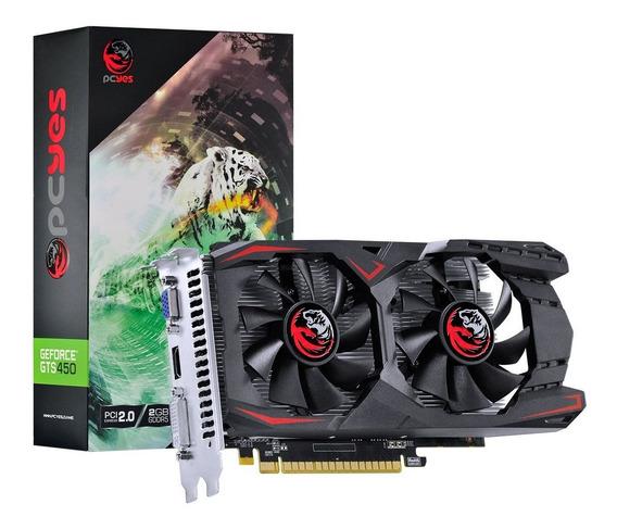 Placa De Vídeo Pcyes Nvidia Geforce Gts 450 2gb Gddr5