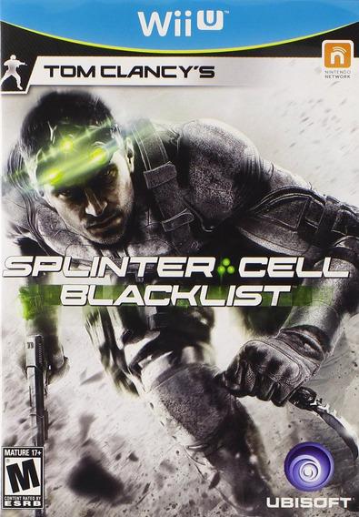 Tom Clancys Splinter Cell:blacklist - Wii U - Lacrado - Nf