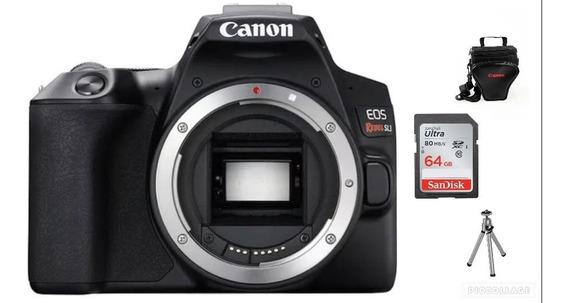 Canon Eos Sl3 Corpo-24.1 Mp+64gb+bolsa+tripé