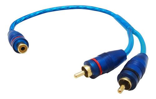 Imagen 1 de 1 de Cable Rca Derivador Y 1 Hembra 2 Macho Para Potencias 30cm