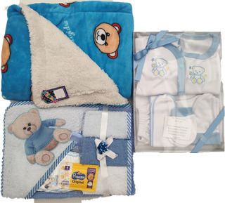 Primera Muda: Set Toalla, Cobertor, Set Ropa Bebe 8 Prendas