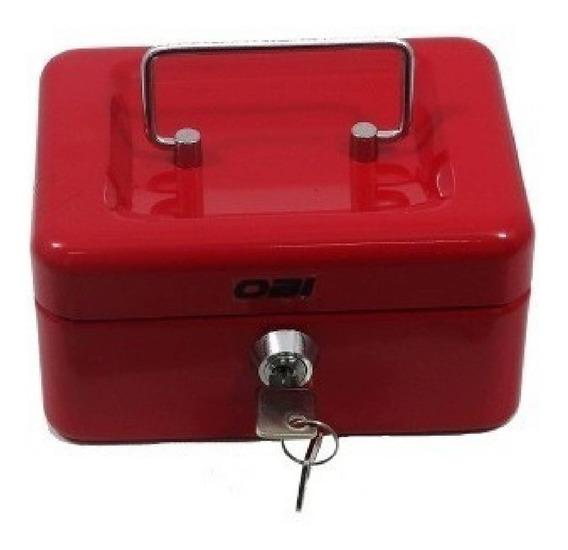 Caja Para Dinero Sencilla Azul Y Rojo De 25 Cm Obi