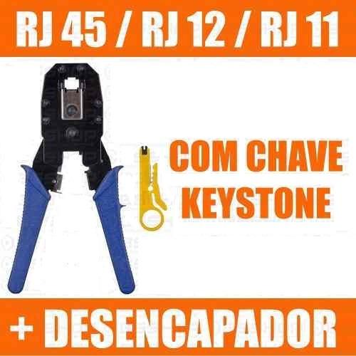 Alicate Crimpar Cabo Rede Rj45 Rj12 Rj11 Chave Desemcapador
