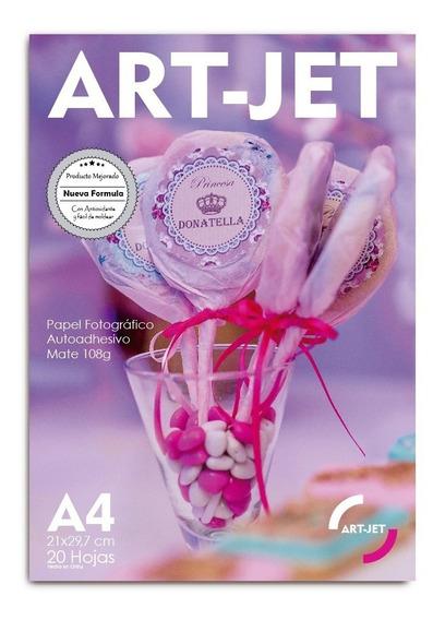 Papel Fotográfico Autoadhesivo A4 Mate 108 Grs Art-jet® 20h