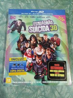 Filme Esquadrão Suicida Blu-ray 3d + Blu-ray + Copia Digital