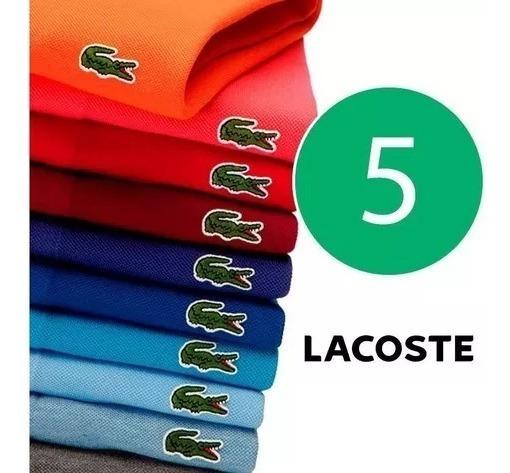 Kit C/5 Camisetas Polo Lacoste