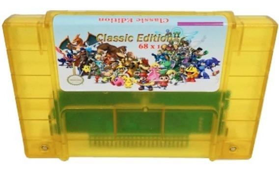 Cartucho Super Nintendo Donkey Kong Trilogia 68 Jogos