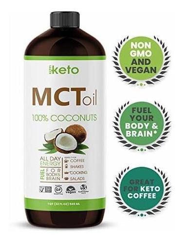 Keppi Keto Mct Aceite Organico Sin Omg Mct Cocos Para Alimen
