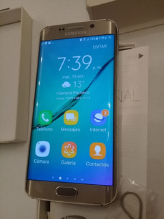 Samsung S6 Edge 32gb Gold Paltinum Con Cargador Original !!