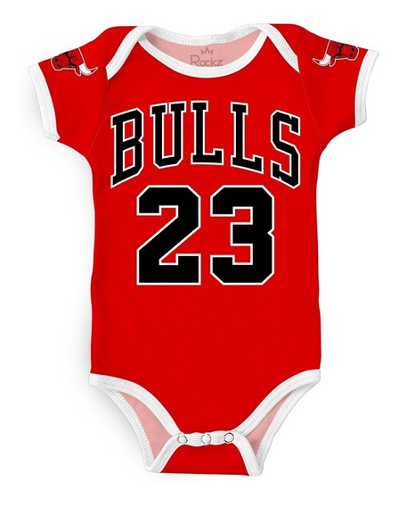 Body Chicago Bulls Nba Basquete Personalizado C/ Nome Bebê