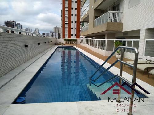 Apartamento 3 Dormitórios - 2 Vagas De Garagem - Residencial Odaléa -santos - 4806