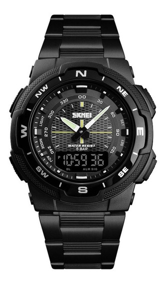 Skmei 1370 Relógio De Quartzo Cinta De Aço Inoxidável 50m Re