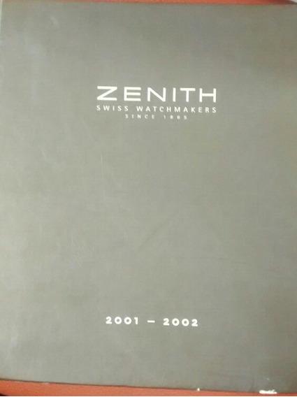 Catálogo De Relojes Zenith Año 2001-2002