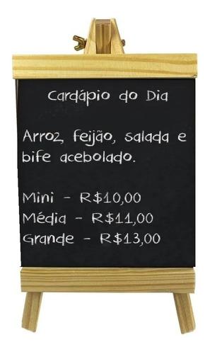 Lousa Cavalete Quadro Negro Giz Cardápio Restaurante Bar