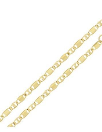 Corrente Folheada Ouro Palito Diamantada Unissex 60cm Oferta