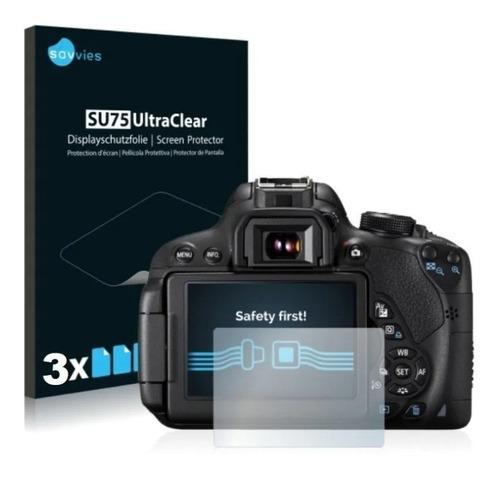 3x Peliculas Savvies Protetora Para Canon Eos 760d
