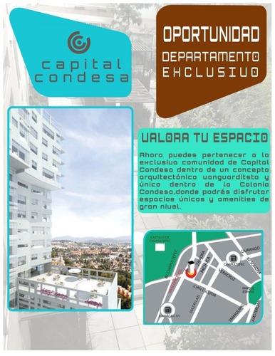 Departamento Venta En Condesa Planta Baja Con Terraza (c)